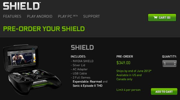 You can now pre order the nvida project shield handheld console for