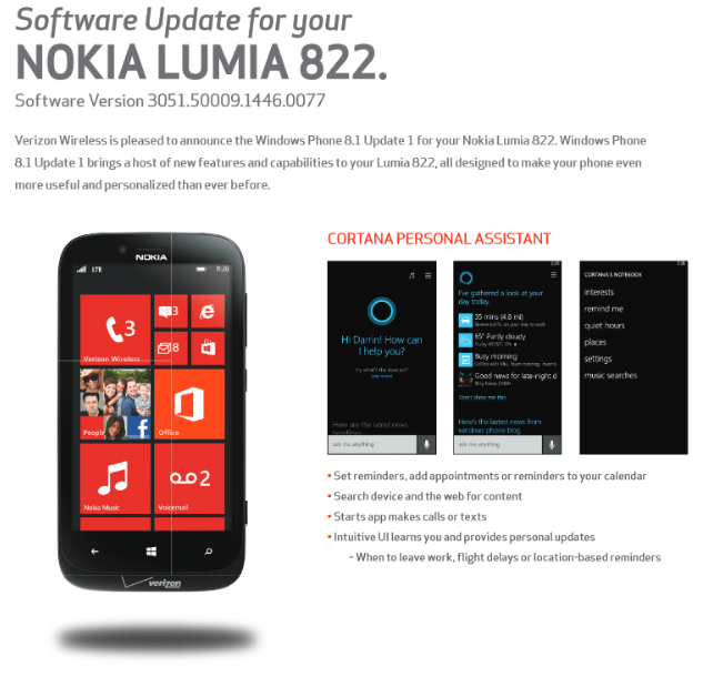 Nokia Lumia 928 And 822 Get Windows Phone 8.1 Update ...