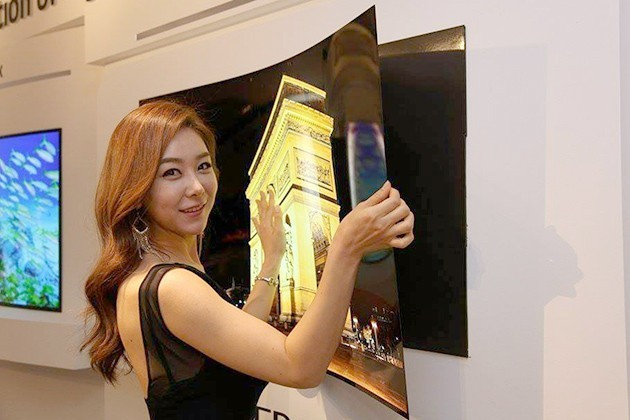 This Ultra Slim Lg Oled Screen Hangs To Your Wall Using