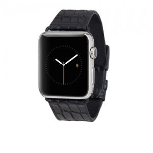 BLACK ALLIGATOR BAND FOR APPLE WATCH 42MM