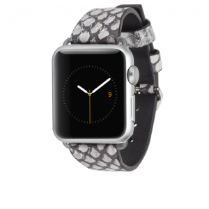 Rebecca Minkoff Snakeskin Band - Silver Apple Watch